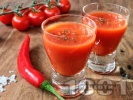 Рецепта Шот Руска закуска от водка и доматен сок